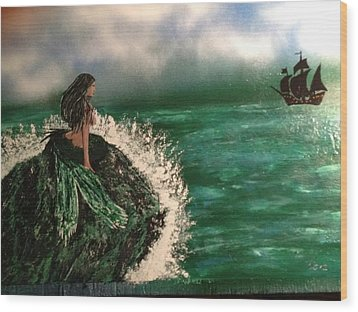 Wood Print featuring the painting Pirates Cove by Michael Rucker