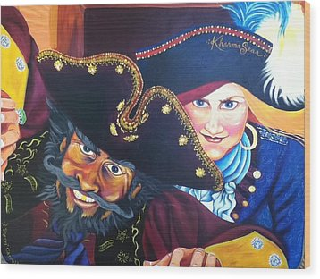 Pirates Wood Print by Sherri Carroll