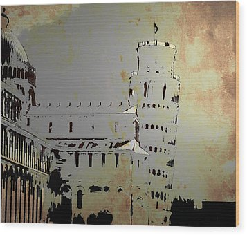 Wood Print featuring the digital art Pisa Italy 1 by Brian Reaves