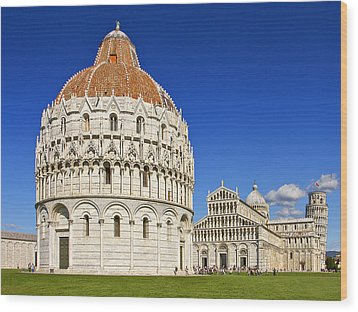 Wood Print featuring the photograph Pisa - Piazza Dei Miracoli by Kim Andelkovic
