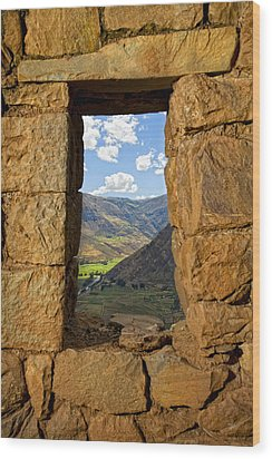 Pisac Ruins Wood Print by Alexey Stiop