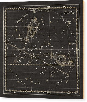 Pisces Constellation, 1829 Wood Print by Science Photo Library