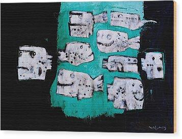 Piscis No 4 Wood Print by Mark M  Mellon