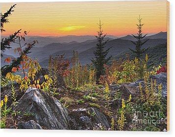 Pisgah Sunset - Blue Ridge Parkway Wood Print
