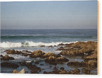 Pismo Beach Seascape Wood Print by Barbara Snyder