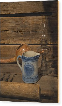 Pitcher Cup And Lamp Wood Print by Douglas Barnett
