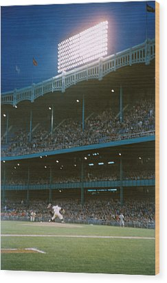 Old Yankee Stadium  Wood Print by Retro Images Archive