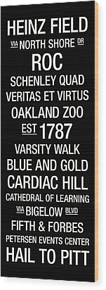 Pitt College Town Wall Art Wood Print by Replay Photos