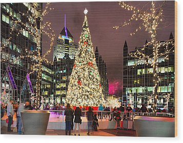 Pittsburgh Holiday Season 2 Wood Print by Emmanuel Panagiotakis