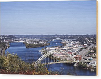 Pittsburgh North Wood Print by Michelle Joseph-Long
