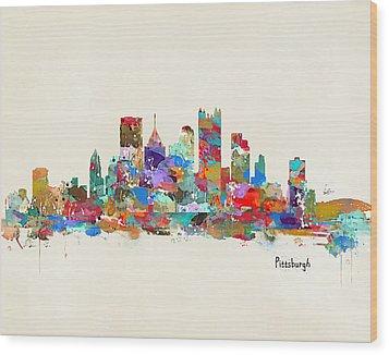 Pittsburgh Skyline Pennsylvania Wood Print