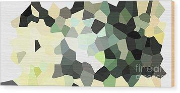Pixel Money Wood Print