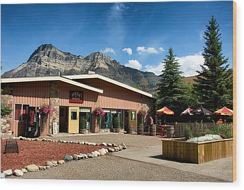 Pizza Of Waterton Wood Print by Trever Miller