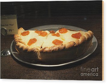 Pizza Pie - 5d20701 Wood Print by Wingsdomain Art and Photography