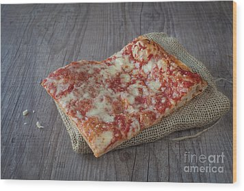 Pizza Slice Wood Print by Sabino Parente