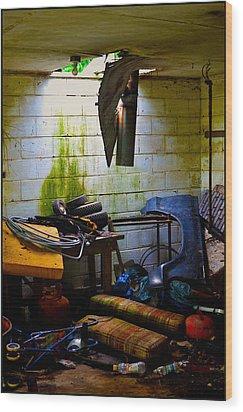 Place For My Stuff Wood Print by Jeffrey Platt