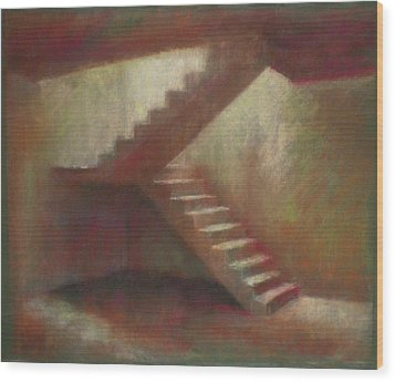 Place With Stairs Wood Print