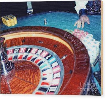 Place Your Bets Las Vegas Wood Print