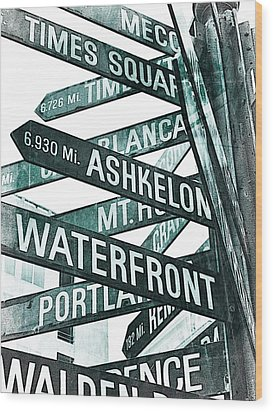 Places To See Wood Print by Cathie Tyler