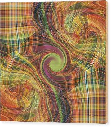 Plaid Tumble Wood Print by rd Erickson