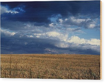 Wood Print featuring the photograph Plain Sky by Rodney Lee Williams