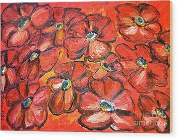 Plaisir Rouge Wood Print by Ramona Matei