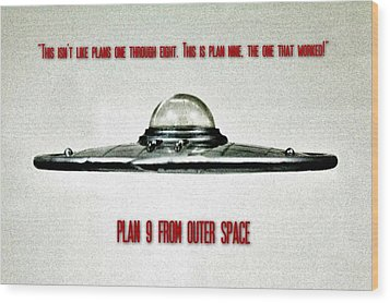 Plan 9 Seinfeld Wood Print by Benjamin Yeager