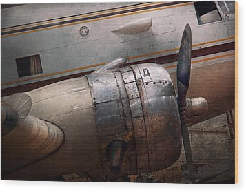 Wood Print featuring the photograph Plane - A Little Rough Around The Edges by Mike Savad