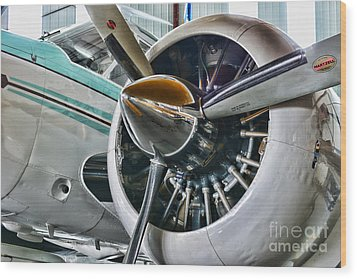 Plane First Class Wood Print by Paul Ward