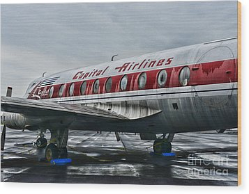 Plane Obsolete Capital Airlines Wood Print by Paul Ward