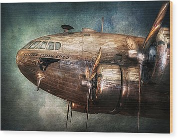 Plane - Pilot - The Flying Cloud  Wood Print by Mike Savad