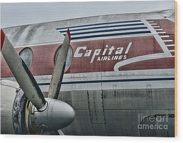 Plane Vintage Capital Airlines Wood Print by Paul Ward