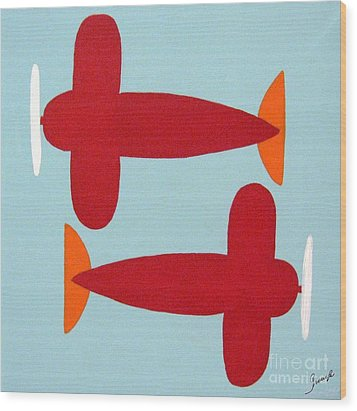 Planes  Wood Print by Graciela Castro