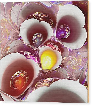 Planet Nursery Wood Print by Anastasiya Malakhova