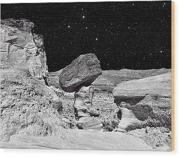 Planet Oz - Southwest Surreal Landscape Wood Print by Vlad Bubnov