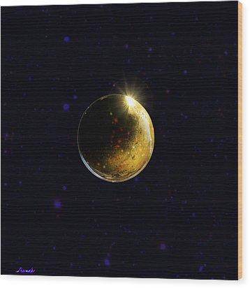 Planet Renatus Wood Print by Renee Anderson