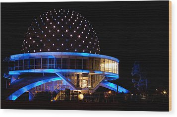 Wood Print featuring the photograph Planetarium by Silvia Bruno