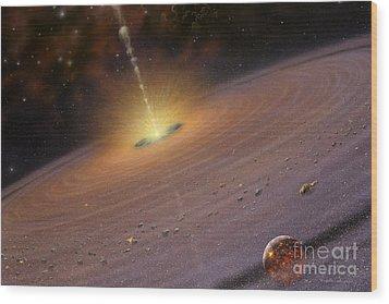 Planetary Disk II V2 Wood Print by Lynette Cook