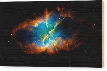 Planetary Nebula Wood Print by Amanda Struz
