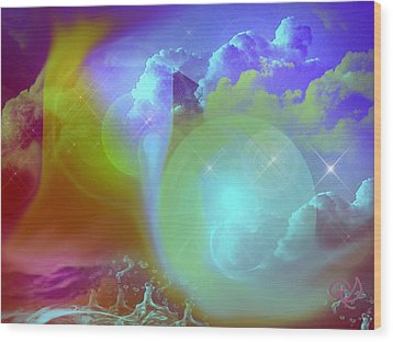 Planetary Storm Wood Print