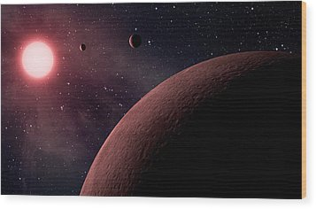 Planetary System Koi-961 Wood Print by Movie Poster Prints