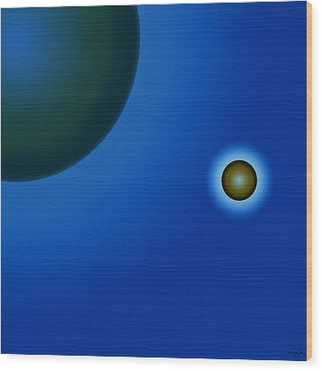 Planets Of Mercy Wood Print by Sir Josef - Social Critic - ART