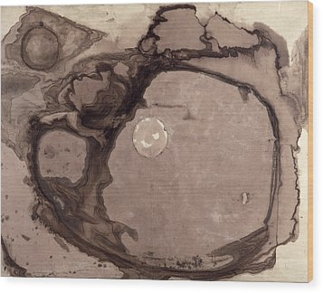 Planets Wood Print by Victor Hugo