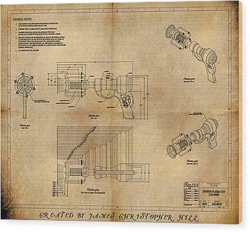 Plasma Gun Wood Print