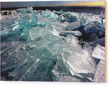 Plate Ice  Wood Print