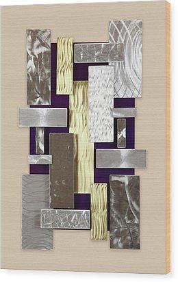 Plates Wood Print by Rick Roth