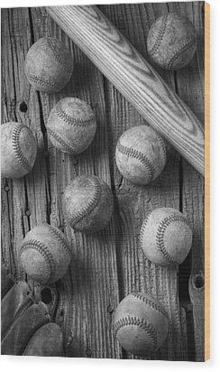 Play Ball Wood Print by Garry Gay