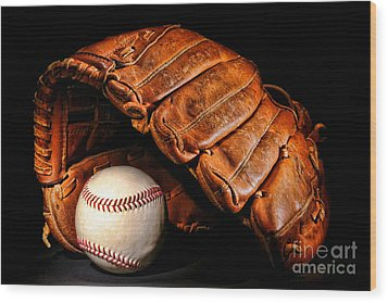 Play Ball Wood Print by Olivier Le Queinec