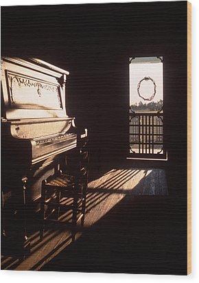 Play Me Wood Print by David and Carol Kelly