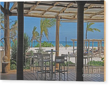 Playa Blanca Restaurant Bar Area Punta Cana Dominican Republic Wood Print